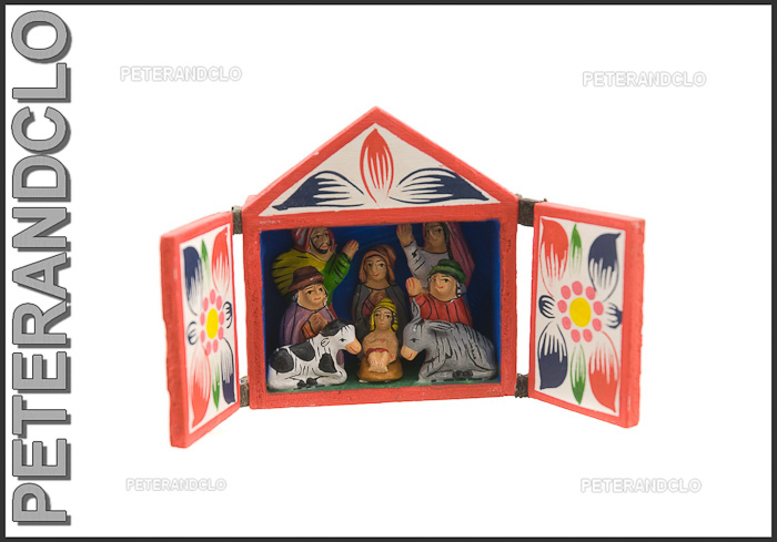 Creche de noel grotte du perou en bois peint peterandclo 6 - Modele de creche de noel en bois ...