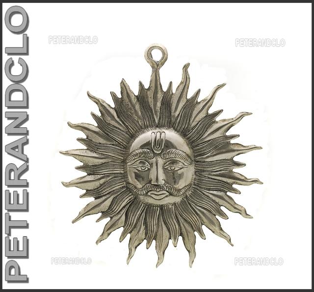Soleil plaque support mural deco sun peterandclo e3 - Plaque brique murale ...