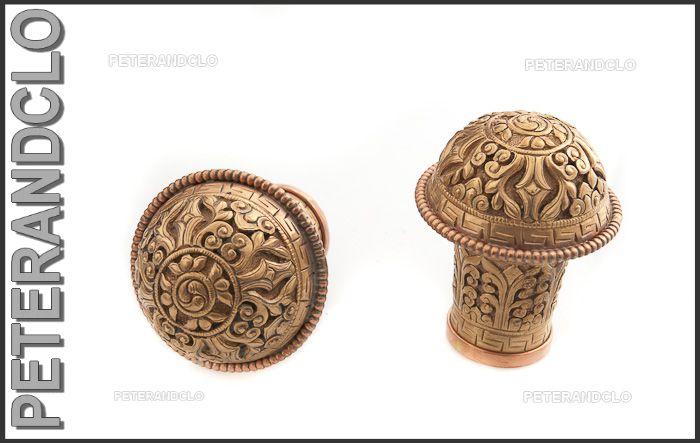 Embout en metal cisele pour tringle de thangka ou tenture for Chaise a palabre