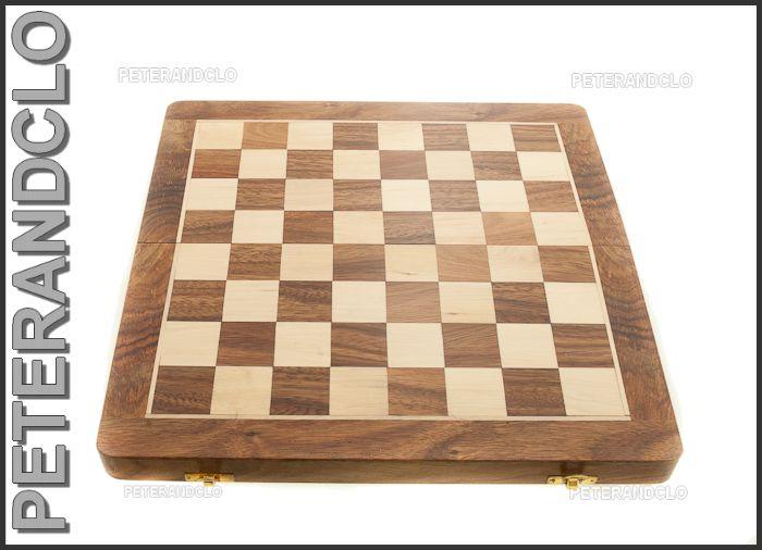 Echiquier jeu d 39 echecs en bois 35 x35 cm fait main peterandclo inde 6773 ebay - Echiquier en bois fait main ...