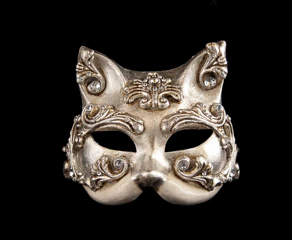 Masque de Venise Blanc à Peindre Colombine Authentique Carnaval Venitien  105