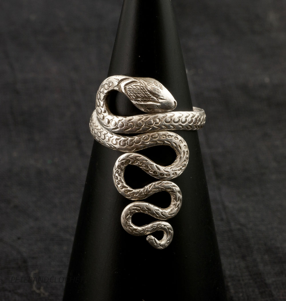 bague serpent cobra argent bijoux tibetains tibet bijou bouddhique 5573 k23 ebay. Black Bedroom Furniture Sets. Home Design Ideas