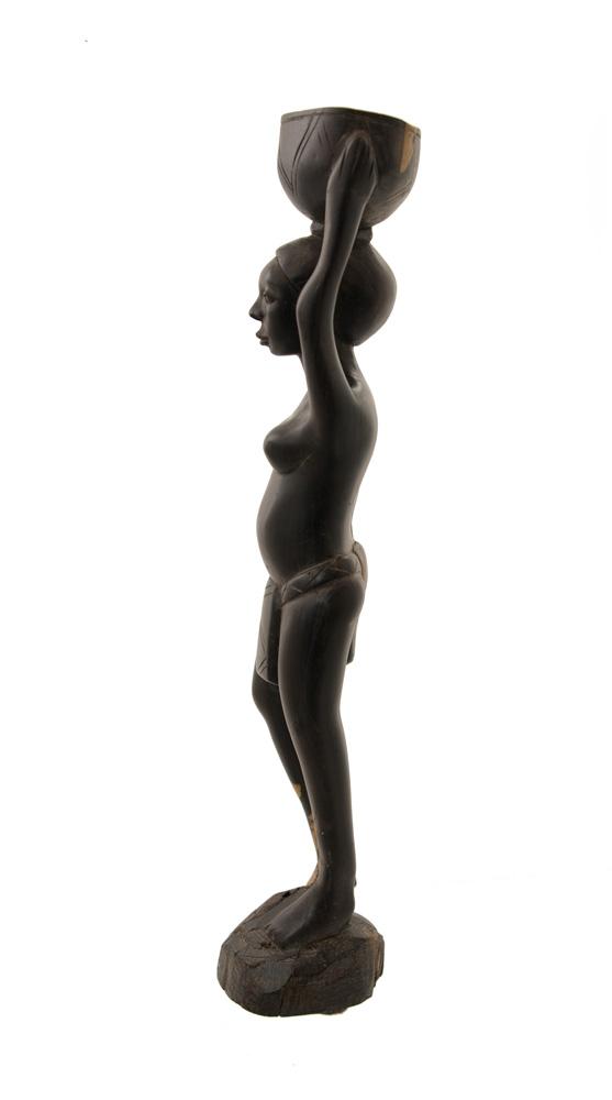 statue africaine en bois ebene