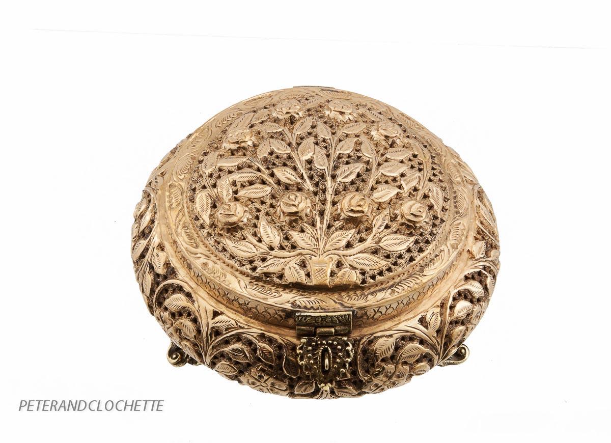 brule encens tibetain encensoir ou boite tibetaine en cuivre laiton 9508 mja ebay. Black Bedroom Furniture Sets. Home Design Ideas