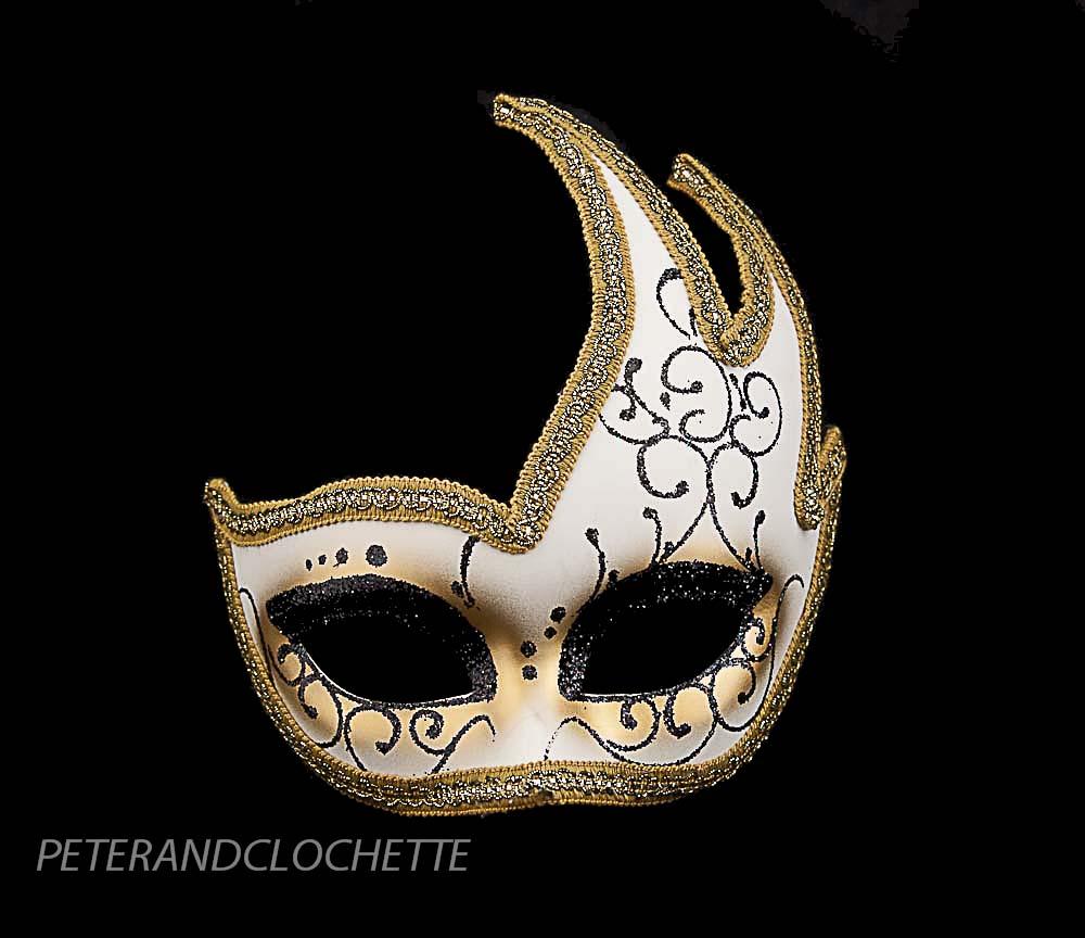 masque deguisement loup de venise colombine cygne mystere dore noir 826 v43 ebay. Black Bedroom Furniture Sets. Home Design Ideas