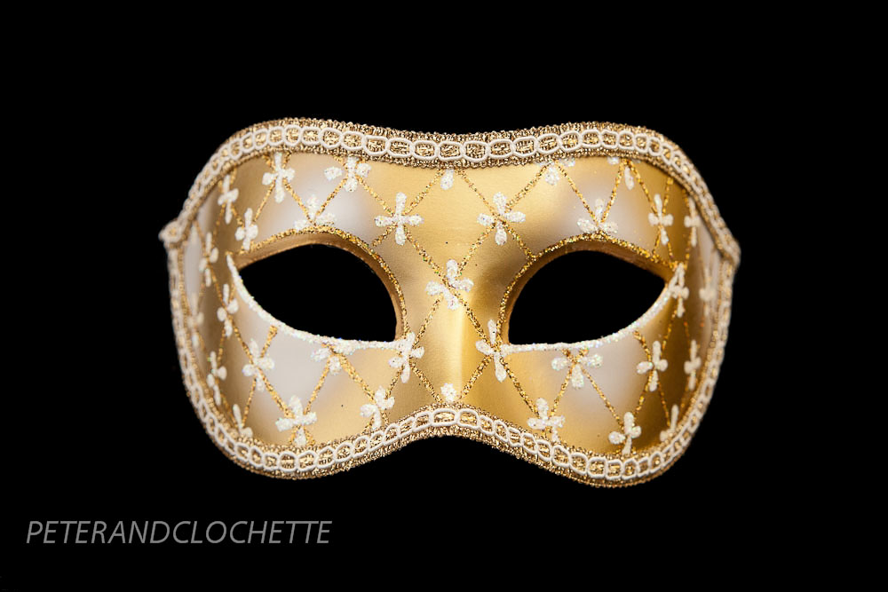 masque de venise colombine lea blanc et dore pour bal masque 958 v4b ebay. Black Bedroom Furniture Sets. Home Design Ideas