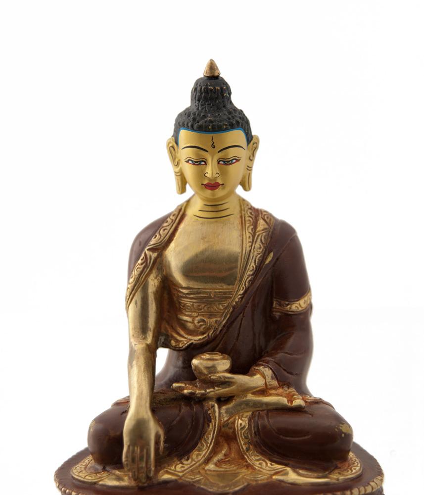 statue tibetaine bouddha akshobhya cuivre et or nepal. Black Bedroom Furniture Sets. Home Design Ideas